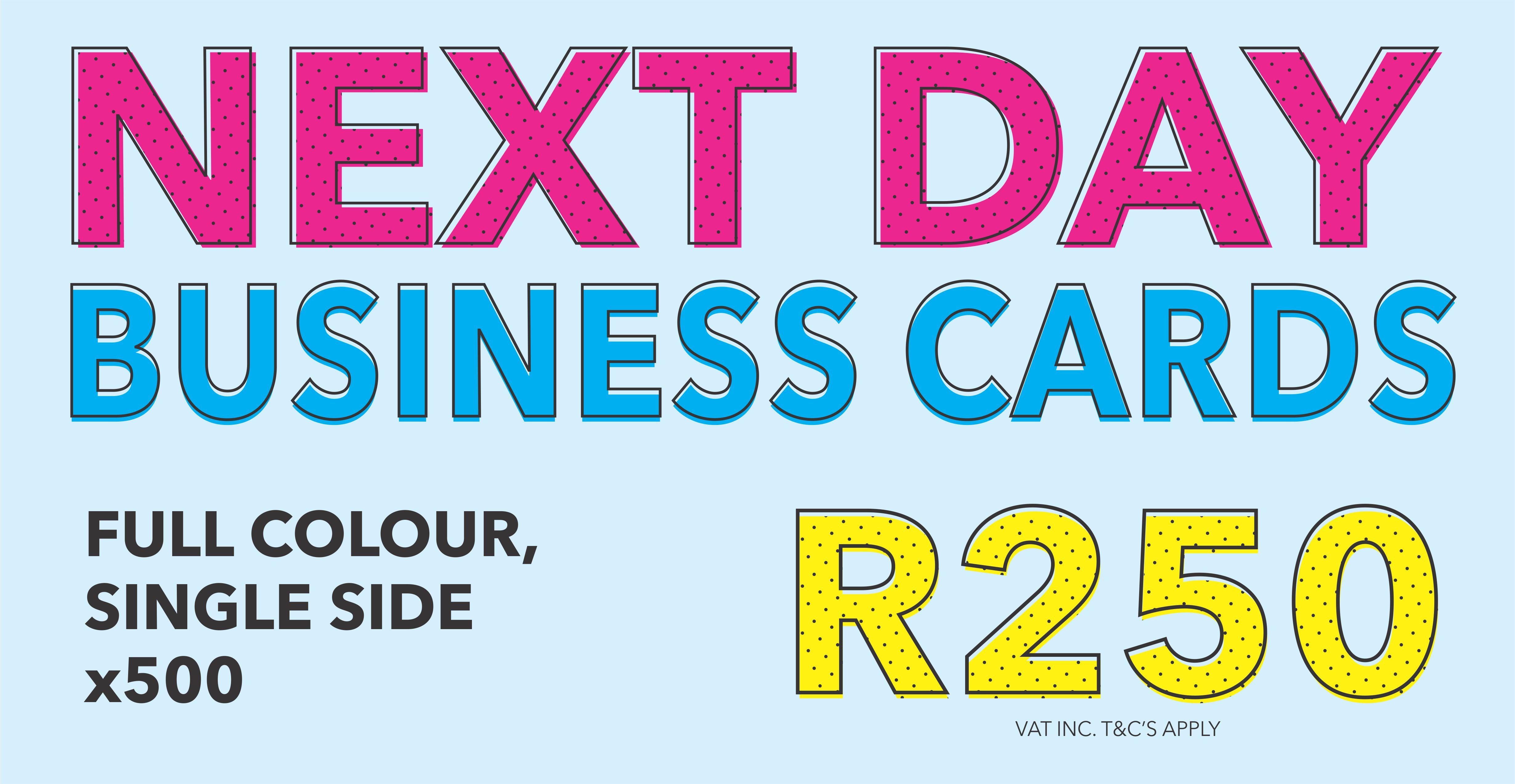 Banner promo business cards - Blitsdruk