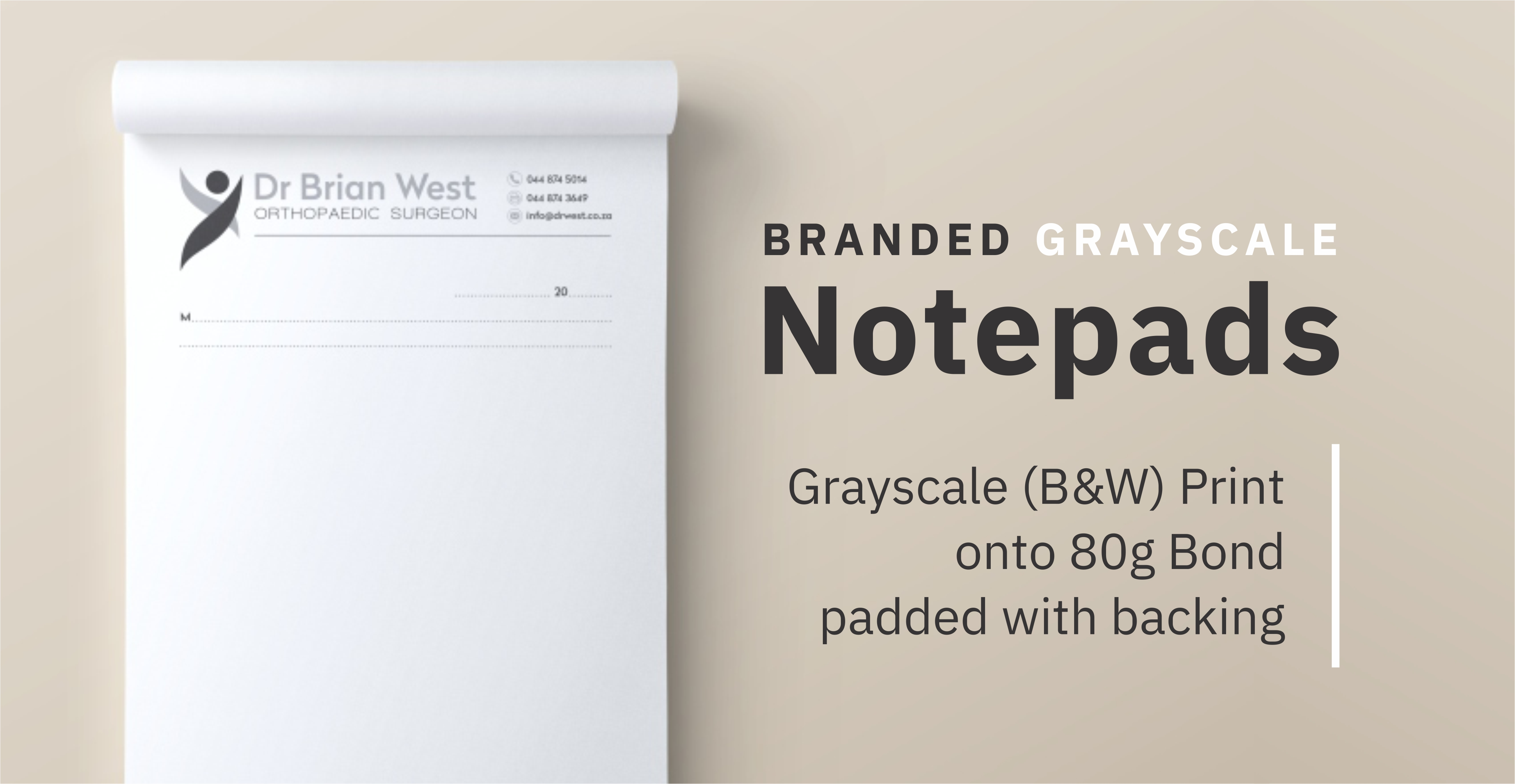 Greyscale Notepads